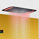 povoljno LED glave za tuš-kupatilo za tuširanje u kupaonici / od nehrđajućeg čelika 304 / s led kontrolnom pločom / raspršivanje / kiša / mjehurić / vodopad