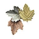 Χαμηλού Κόστους Τσάντες χιαστί-Γυναικεία Καρφίτσες Leaf Shape Στυλάτο Μοναδικό Γλυκός Καρφίτσα Κοσμήματα Χρώμα Παραλλαγής Για Καθημερινά Δουλειά Φεστιβάλ