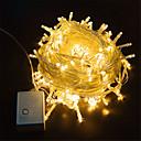 billige LED-stringlys-10 m Lyssett / Lysslynger 100 LED Varm hvit / Hvit / Blå Vanntett / Fest / Dekorativ 220-240 V / 110-120 V 1pc