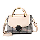 cheap Top Handles & Tote Bags-Women's PU(Polyurethane) Top Handle Bag Striped Black / White / Red