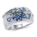 billige Ringer for Par-Dame Ring 1pc Blå Fuskediamant Legering Annerledes Vintage Koreansk Mote Daglig Smykker Vintage Stil Heldig
