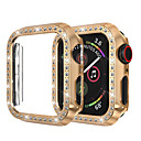 Χαμηλού Κόστους Αξεσουάρ Ακουστικών-για το ρολόι μήλο iwatch περίπτωση 44mm / 40mm / 38mm / 42mm σειρά 4 3 2 1 iwatch περίπτωση κάλυψη προστατευτικό πλαίσιο με bling κρυστάλλινα διαμάντι rhinestone