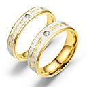 Χαμηλού Κόστους Δαχτυλίδια Ζευγαριών-Για Ζευγάρια Δαχτυλίδια Ζευγαριού Δαχτυλίδι 1pc Χρυσό Χρυσό Τριανταφυλλί Ανοξείδωτο Ατσάλι Κυκλικό Βίντατζ Βασικό Μοντέρνα Υπόσχεση Κοσμήματα Καρδιά Heart
