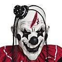billiga Halloween- och karnevalkostymer-hemsk skrämmande clownmask vuxna män latex vitt hår halloween