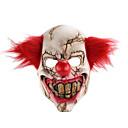 billiga Halloween- och karnevalkostymer-skräck holloween latex clown mask vuxen med rött hår mördare party
