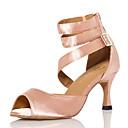 baratos Sapatos de Dança Latina-Mulheres Sapatos de Dança Cetim Sapatos de Dança Latina Recortes Salto Salto Carretel Personalizável Rosa claro / Espetáculo