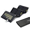 ราคาถูก ชุดหูฟังโทรศัพท์ & ธุรกิจ-ที่ชาร์จพลังงานแสงอาทิตย์ สำหรับ โทรศัพท์มือถือ Power Bank Waterproof ชาร์จใหม่ได้ เคลื่อนที่ ป้องกันรอยขีดข่วน EVA ช่องเสียบ USB แคมป์ปิ้ง & การปีนเขา / การตกปลา / ปั่นจักรยาน / จักรยาน