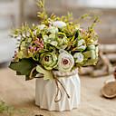 זול חפצים דקורטיביים-פרחים מלאכותיים 1 ענף קלאסי ארופאי פסטורלי סגנון ורדים אדמוניות פרחים לשולחן