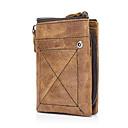 ราคาถูก กระเป๋าตังค์-สำหรับผู้ชาย หนังวัว กระเป๋าเงิน สีทึบ สีน้ำตาล