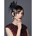 Χαμηλού Κόστους Κοστούμια, Αξεσουάρ & Κοσμήματα-The Great Gatsby Τσάρλεστον Βίντατζ 1920s Κορδέλα μαλλιών του 1920 Γυναικεία Στολές Καλύμματα Κεφαλής Μαύρο / Χρυσαφί / Χρυσαφί+Μαύρο Πεπαλαιωμένο Cosplay Πάρτι Χοροεσπερίδα Αμάνικο / Ομπρέλα