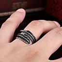 billige Båndringe-Herre Dame Ring 1pc Svart Kobber Sirkelformet Grunnleggende Koreansk Mote Festival Smykker Ondt øye
