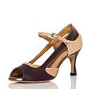 baratos Sapatos de Dança Latina-Mulheres Sapatos de Dança Sintéticos Sapatos de Dança Latina Recortes Têni Salto Carretel Personalizável Dourado