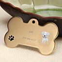 baratos Acessórios para animais de estimação gravados-Personalizado Personalizado Labrador Pet Tags Clássico Presente Diário 1pcs Dourado Prata Rosa Dourado