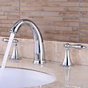 ราคาถูก ก๊อกอ่างล้างหน้าในห้องน้ำ-ก๊อกน้ำอ่างล้างจานห้องน้ำ - กระจาย มีสี / สีทอง / สีดำ กระจาย จับสองสามหลุมBath Taps
