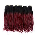 Χαμηλού Κόστους Κοστούμια για Ενήλικες-Ombre Περιποίηση μαλλιών Πλεξούδες Twist Σγουρά Συνθετικά μαλλιά 20χιλ Hair Extension ύφανση μαλλιά Τουπή Μπορντώ 3 Κομμάτια Κλασσικό Εύκολο στη μεταφορά 100% μαλλιά kanekalon Γυναικεία