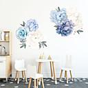 ราคาถูก สติกเกอร์ติดผนัง-แฟชั่นดอกไม้สีฟ้าสติ๊กเกอร์ติดผนัง - เครื่องบินสติ๊กเกอร์ติดผนังดอกไม้ / พฤกษศาสตร์ / ภูมิทัศน์ห้องทำงาน / สำนักงาน / ห้องรับประทานอาหาร / ห้องครัว