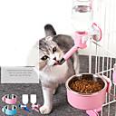 Χαμηλού Κόστους Ζυγαριές-Σκυλιά Κουνέλια Γάτες Μπολ & Μπουκάλια Νερού / Τροφοδότες 0.25 L Πλαστική ύλη ABS + PC Προσαρμόσιμη / Τηλεσκοπικό Πλένεται Καθημερινά Μονόχρωμο Μπλε Ροζ Μπολ & Διατροφή