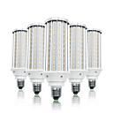 baratos Lâmpadas LED em Forma de Espiga-loende 5 pacote 60 w led milho luzes 6000 lm e26 / e27 t 160 contas led smd 5730 branco quente branco 85-265 v