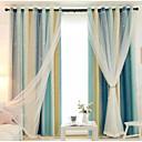 billiga Speglar Väggklockor-Moderna Integritet Två paneler Gardin & Sheer Sovrum   Curtains