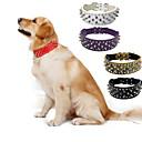 ราคาถูก ปลอกคอ สายจูง สายรัดสำหรับสุนัข-สุนัข ปลอกคอ Portable สีพื้น หนัง PU สีดำ สีน้ำตาล ขาว