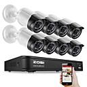 Χαμηλού Κόστους AHD Κιτ-zosi 8ch 1080p ασφάλεια βίντεο dvr κιτ 2MP κάμερα κάμερας CCTV σύστημα νυχτερινής όρασης αδιάβροχο hdd μονάδα σκληρού δίσκου 2tb ανίχνευση κίνησης απομακρυσμένη πρόσβαση tvi cvi ahd ανάλογο