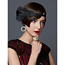 Χαμηλού Κόστους Κοστούμια, Αξεσουάρ & Κοσμήματα-The Great Gatsby Κορδέλα μαλλιών του 1920 1920s / Χρυσή δεκαετία του '20 Γυναικεία Μαύρο / Χρυσαφί / Λευκό Κρύσταλλο / Στρας / Φτερό Πάρτι Χοροεσπερίδα Αξεσουάρ για Στολές Ηρώων Μασκάρεμα Κοστούμια
