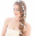 baratos Pulseiras Inteligentes-Imitação de Pérola Headbands / Cadeia da cabeça com Detalhes em Pérolas / Cristal / Strass / Flor 1 Peça Casamento Capacete