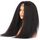 ราคาถูก วิกผมจริง-ผม Remy มีลูกไม้ด้านหน้า วิก สไตล์ ผมบราซิล ผมหยิกตรง ดำ วิก 130% Hair Density สำหรับผู้หญิง ความยาวระดับกลาง วิกผมแท้ beikashang