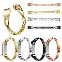 baratos Luzes de Neblina para Carros-Para fitbit alta / alta hr x-forma diamante moda pulseira de aço inoxidável pulseira pulseira