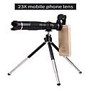 זול מיקרוסקופים ואנדוסקופים-קליפ אוניברסלי עדשת hd23x הטלפון הסלולרי עדשת טלסקופ עדשת מצלמה חיצונית למצלמה חכמה עבור iphone samsung huawei