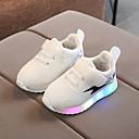 billige LED Sko-Gutt / Jente LED / Komfort / Lysende sko Netting / PU Sportssko Toddler (9m-4ys) / Små barn (4-7år) Svart / Hvit / Rosa Vår / Høst / Fargeblokk / Gummi