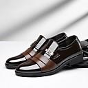 baratos Oxfords Masculinos-Homens Sapatos formais Couro Ecológico Primavera Verão Oxfords Preto / Marron