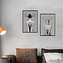 baratos Quadros com Moldura-Impressão de Arte Emoldurada Conjunto Emoldurado - Pessoas Nú Poliestireno Fotografias Arte de Parede
