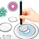 Χαμηλού Κόστους Σχέδιο Παιχνίδια-Παιχνίδι σχεδιασμού Παιχνίδια Tablet σχεδιασμού Spirograph Ζωγραφιά Χειροποίητο PP+ABS ABS + PC Παιδικά Όλα Παιχνίδια Δώρο 500 pcs