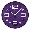 """baratos Relógios de Parede-Contemporâneo Moderno Plástico Redonda Interior 12 """"* 12"""" (30,5 cm × 30,5 cm)"""