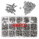 Χαμηλού Κόστους Κλειδαριές με πληκτρολόγιο-480pcs m2 m3 m4 304 ανοξείδωτο χάλυβα εξάγωνο βιδωτό πώμα κεφαλής βιδωτό παξιμάδι σύνολο κιτ + κιβώτιο
