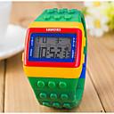 Χαμηλού Κόστους Αθλητικά ακουστικά-Γυναικεία κυρίες Ψηφιακό ρολόι Square Watch Ψηφιακό Συναγερμός Ημερολόγιο Χρονογράφος Ψηφιακό Γλυκά Μοντέρνα Ξύλο - Κίτρινο Κόκκινο Δύο χρόνια Διάρκεια Ζωής Μπαταρίας / LCD / Desay CR2025