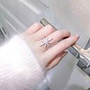 billige Motering-Dame Ring Åpne Ring 1pc Hvit Kobber Sirkelformet Grunnleggende Koreansk Mote Festival Smykker Nummer Bokstaver Smuk