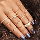 billige Fashion Rings-Dame Ring Set 12pcs Lysebrun Legering Gave Smykker