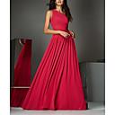 baratos Clutches & Bolsas de Noite-Linha A Assimétrico Cauda Escova Chiffon Elegante Evento Formal Vestido 2020 com Pregas