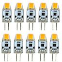 baratos Luzes de Circulação Diurna-10pçs 3 W Luminárias de LED  Duplo-Pin 300 lm G4 T 1 Contas LED COB Regulável Novo Design Branco Quente Branco 12 V