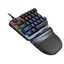 billige Telefon og forretningshodesett-litbest k27 mekanisk tastatur 27 taster enhånds spilltastatur