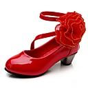 Χαμηλού Κόστους Χαμηλές γόβες για έφηβες-Κοριτσίστικα Λουλουδάτα φορέματα για κορίτσια PU Τακούνια Τα μικρά παιδιά (4-7ys) Λουλούδι Φούξια / Κόκκινο / Ροζ Φθινόπωρο
