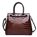 Χαμηλού Κόστους Ημέρα επιστροφής στο σπίτι-Γυναικεία PU Τσάντα χειρός Συμπαγές Χρώμα Μαύρο / Ρουμπίνι / Καφέ