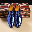 baratos Oxfords Masculinos-Homens Sapatos formais Couro Ecológico Primavera Verão / Outono & inverno Negócio / Casual Oxfords Caminhada Respirável Dourado / Vermelho / Azul