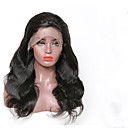cheap Human Hair Wigs-Remy Human Hair Lace Front Wig style Brazilian Hair Body Wave Black Wig 130% Density Women's Medium Length Human Hair Lace Wig beikashang