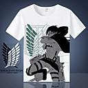 billiga Animefigurer-Inspirerad av Attack on Titan Eren Jager / Cosplay / levi ackerman Animé Cosplay-kostymer Japanska Cosplay T-shirt T-shirt Till Herr / Dam