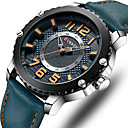 ราคาถูก นาฬิกากีฬา-สำหรับผู้ชาย นาฬิกาตกแต่งข้อมือ ญี่ปุ่น นาฬิกาอิเล็กทรอนิกส์ (Quartz) PU Leather ดำ / ฟ้า / แดง 30 m กันน้ำ โครโนกราฟ นาฬิกาใส่ลำลอง ระบบอนาล็อก มาใหม่ แฟชั่น - สีดำ สีน้ำเงิน แดง / สองปี