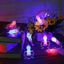 baratos Materiais de Limpeza-10 led luzes da corda de halloween decorações esqueleto de halloween luzes crânio abóbora luzes do globo ocular bateria interior ao ar livre multicolor