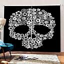 billige Halloweenprodukter-hjem dekorasjon 3d-utskrift blomster skjelett bakgrunnsgardiner 100% polyester fortykning mørkstoff gardin